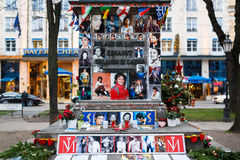 Memorial of Michael Jackson in Munich Royalty Free Stock Photo