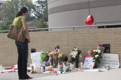 Memorial of Michael Jackson at UCLA Medical Center Royalty Free Stock Photos