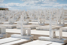 Memorial Military cemetery in Nicosia, Cyprus Royalty Free Stock Images