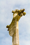 Memorial monument cross and shield Stock Photos