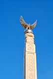 Memorial monument of an eagle with spread wings Royalty Free Stock Image