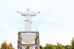 Memorial on Mansinam island - Jesus stock photo