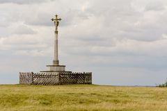 Memorial monument on hilltop Royalty Free Stock Images