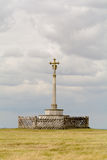 Memorial monument on hilltop Royalty Free Stock Image