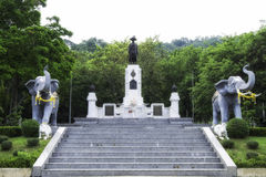Memorial monument of King Rama I Royalty Free Stock Photography