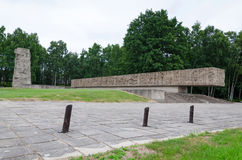 Memorial monument in Stutthof Stock Image