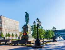 Memorial monument to Russian poet Alexander Pushkin Stock Photos