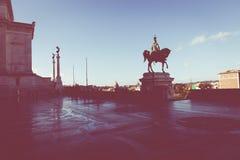 Memorial monument the Vittoriano or Altar of the Fatherland, in. Memorial monument the Vittoriano in Venezia square Stock Photography