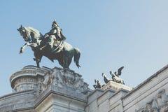 Memorial monument the Vittoriano in Venezia square. Memorial monument the Vittoriano in Venezia square Royalty Free Stock Photography