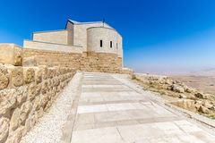 The Memorial of Moses at Mount Nebo, Jordan. The Memorial church of Moses at Mount Nebo, Jordan Royalty Free Stock Photography