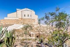 The Memorial of Moses at Mount Nebo, Jordan. The Memorial church of Moses at Mount Nebo, Jordan Royalty Free Stock Image