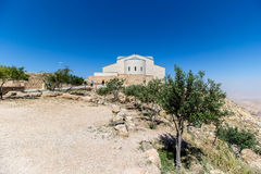 The Memorial of Moses at Mount Nebo, Jordan. The Memorial church of Moses at Mount Nebo, Jordan Royalty Free Stock Images