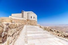 The Memorial of Moses at Mount Nebo, Jordan. The Memorial church of Moses at Mount Nebo, Jordan Royalty Free Stock Photos