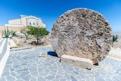 The Memorial of Moses at Mount Nebo, Jordan. The Memorial church of Moses and the old portal of the monastery at Mount Nebo, Jordan Stock Image