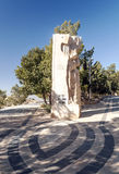 Memorial of Moses. Mount Nebo, Jordan. It´s a vertical picture stock images
