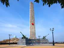 The memorial on mountain Mithridat, Kerch, Crimea Stock Image