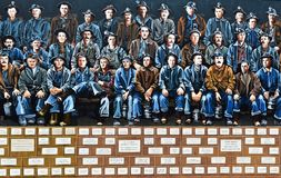 Memorial Mural Honoring Copper Miners Stock Photography