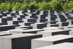 Memorial for the murdered Jews of Europe. Berlin royalty free stock image