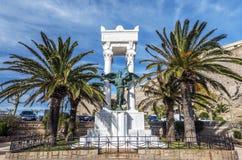 Memorial na cidade de Calvi de Córsega Fotografia de Stock Royalty Free
