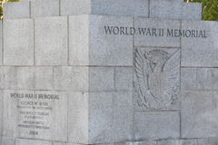 Memorial nacional da segunda guerra mundial em Washington, C.C. Fotos de Stock Royalty Free