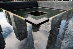 Memorial nacional do 11 de setembro em New York City Foto de Stock Royalty Free
