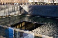 Memorial nacional do 11 de setembro, New York imagem de stock