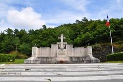 Memorial near Côte du Malgré-Tout Royalty Free Stock Images