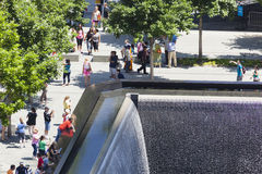 9 11 memorial, New York, editorial Imagens de Stock Royalty Free