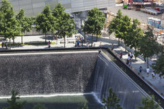 9 11 memorial, New York, editorial Imagem de Stock