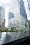 9/11 Memorial in New York. At the 9/11 Memorial in New York, Freedom Tower in the background Royalty Free Stock Photos