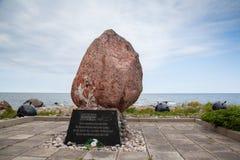 Memorial no cabo Yuminda em Estônia imagem de stock royalty free