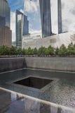 memorial 911 no centro de comércio de mundos em New York Fotografia de Stock