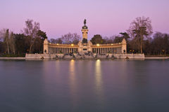 Memorial no parque da cidade de Retiro, Madrid Imagem de Stock