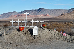 Memorial in the Northern Nevada desert Stock Photography