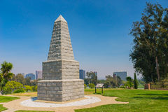 Memorial Obelisk in National Cemetery Royalty Free Stock Photography