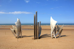 Memorial Omaha Beach Stock Photo
