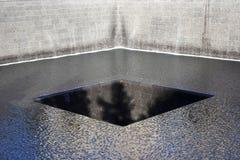 Memorial para 9-11 no ponto zero em New York City Fotografia de Stock
