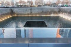 9/11 Memorial park, aerial view in Manhattan New York City. USA royalty free stock image