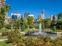 Memorial Park in Calgary. Alberta Canada during the beautiful fall season Royalty Free Stock Photography