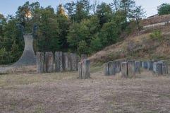 Memorial Park Hisar monument i Leskovac Arkivbild