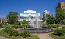 Memorial Park le 5 juin 2016 à Calgary Photo libre de droits