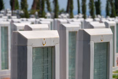 Memorial park for Turkish martyrs in Canakkale Turkey Stock Photos