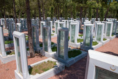 Memorial park for Turkish martyrs in Canakkale Turkey Royalty Free Stock Photography