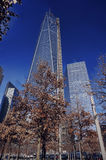 911 Memorial Park and World Trade Center, New York Royalty Free Stock Photos