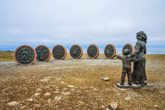 Memorial of passed away fishers in Honningsvag, Norway, North Cape, Northernmost of Europe. Memorial of lost fishers in Honningsvag, Norway, North Cape Stock Photography