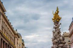 Memorial Plague column, Pestsaule on Graben street in Vienna. Royalty Free Stock Images