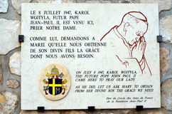 Memorial  plaque at the Cathedral Notre Dame de la Garde Stock Photography