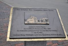Memorial Plaque from Downtown of Portsmouth in New Hampshire of USA Royalty Free Stock Photography