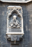 Memorial plaque of Friedrich von Schmidt on the tower of Cathedr Stock Photo