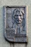 Memorial plaque in honour of Igor Talkov. Kaliningrad, Russia Royalty Free Stock Images